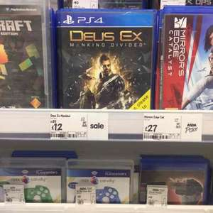 Deus Ex Mankind Divided Day One Edition (PS4 / X1) £12 ASDA Instore (Stevenage)