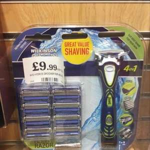 Wilkinson Sword 4 in 1 Razor + 9 Blades inc battery £9.99 at Homebargains
