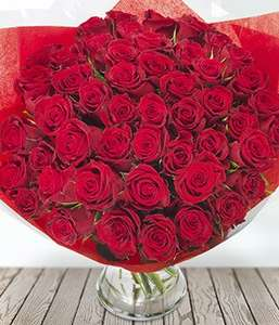 50 red roses with discount code and cash back £33.73 @ Eflorist