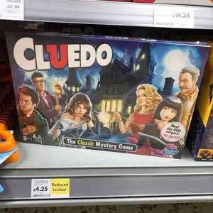 Cluedo reduced to £4.25 at Tesco instore