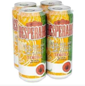 Desperado 500ml can X 4 £5.49 at Home Bargains in store. 5.9 % Beer with Tequila. Very cheap for the rare large cans