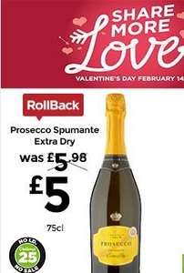 Prosecco 75cl £5 - ASDA - Extra Dry for Valentines Day - ROLLBACK! - The Prosecco SHIELD is £6