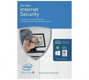 McAfee Internet Security 2016 - UNLIMITED DEVICES! ARGOS - £3.99