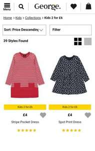 George at Asda Kids 2 for £6 & 2 for £8