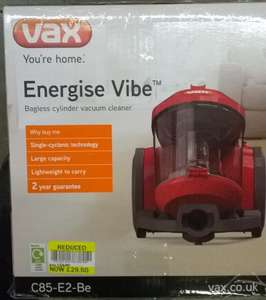VAX Energise Vibe Bagless Cylinder Vacuum Cleaner Hoover Cyclonic C85-E2-Be £29.50 instore @ Tesco Metro Canterbury