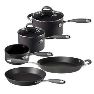 Raymond Blanc Anodised Aluminium 5pc Pan Set reduced £220 to £66 @ Debenhams