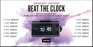 "Smashbox ""beat the clock"": Up to £12 off £40 spend"