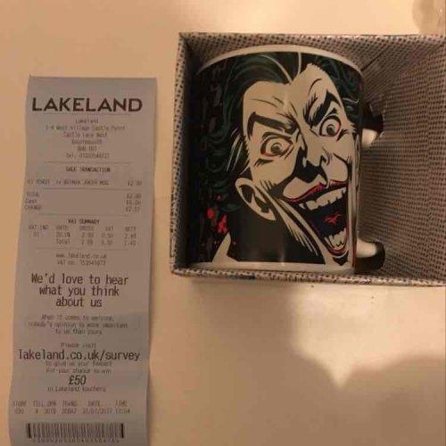 Batman Joker mug £2.99 @ Lakeland - Bournmouth