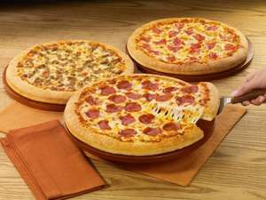 pizza hut, any size pizza of the day for £7.99 delivered !!! with free now tv movie for a week