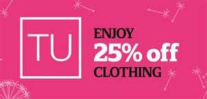 Sainsburys 25% off TU clothing starts Feb 14th