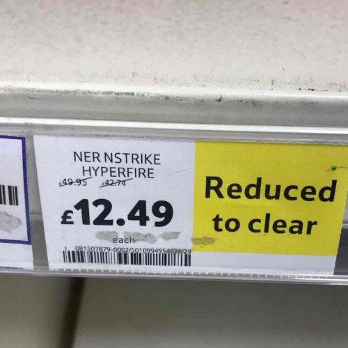 Nerf Hyperfire £12.49 @ Tesco instore - Baldock