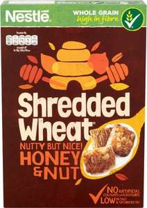 Nestle Shredded Wheat Honey Nut (500g) was £1.97 now £1.00 @ Morrisons