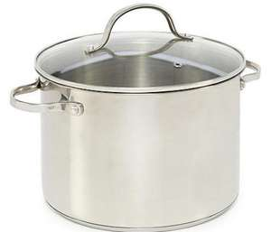 Home Collection 32CM Stainless steel stockpot with lid £16.80 Debenhams (free c& on orders over £20)