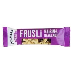 Jordans Frusili Raisin and Hazelnut Bar 30g [Pack of 24] £4.18 Delivered!!! (Subscribe & Save) at Amazon.co.uk