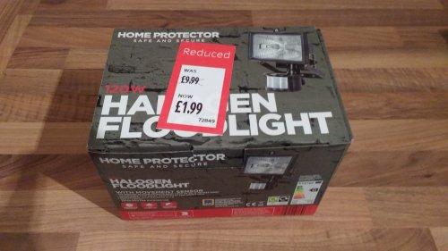 120W Halogen Floodlight with Movement Sensor £1.99 (Instore) @ Aldi