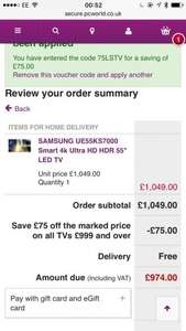 *read info*Samsung ue55ks7000 now £974 75LSTV @ Currys Cheapest for a while. Possible John Lewis price match