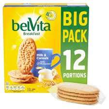 Belvita 2 x 12 portions BIG BAG milk and cereal breakfast biscuits £3.80 @ Costco
