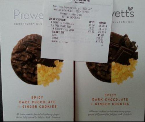 Prewetts Gluten free biscuits 20p instore @ Morrisons Weston-Super-Mare