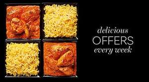 M&S Indian meal deal...2 mains and 3 sides for £10