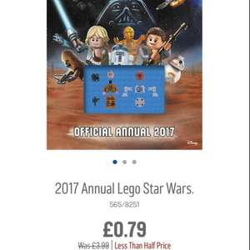 Lego Star Wars Annual - 2017 79p Argos
