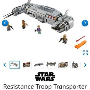 Lego Star Wars 75140 Resistance Troop Transporter £29.99 Lego Shop (£3.95 del)