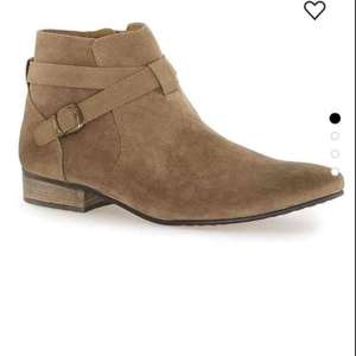 Tan Faux Suede Buckle Boots £10.80 @ TOPMAN