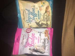 Thorntons fudge and special assorted toffee 59p or 2 for £1 in Heron