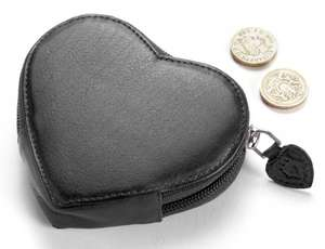 Heart shapped leather purse £6.00 from £19.99 plus £1.50 postage or free over £20.00 from the Pen Shop