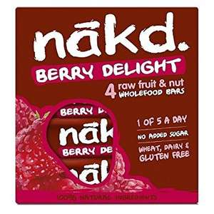 Nakd Berry Delight, 4 x 35 g, Amazon Pantry - £0.75 + £2.99 del