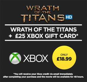 Wuaki £25 xbox credit and wrath of the titans (rental) for £18.99