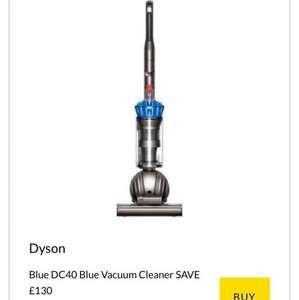 Dyson DC40 Blue £190.. new users get £10 off which brings it down to £180 www.brandalley.co.uk