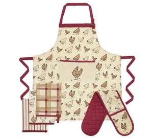 Heart of House Homestead 5 Piece Textiles Sets (Apron, Oven Gloves & 3 Tea Towels was £14.99 now £4.99 @ Argos (also Heart Set £5.99)