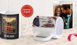 Personalised 11oz photo mug usually £10.98 now just £2.99 delivered - Fab Valentines present @ Snapfish