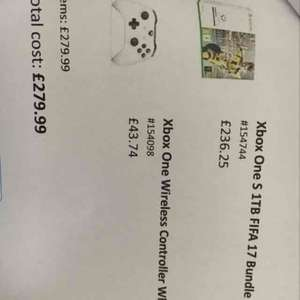 Xbox one S 1tb with FIFA and a second controller £279.99 @ Smyths Toys