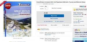 Great Britain & Ireland 2015 Michelin Tourist and Motorist Atlas (A4 Paperback or Spiral Bound) £1.99 @ bookmail / Ebay