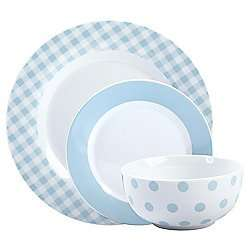 Mikasa 12 Piece Blue Porcelain Dinner Set - £12 in store at Tesco