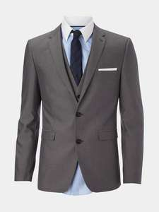 Slim fit mid grey suit now only £40 at Burton free delivery plus more suits  £40 and £50