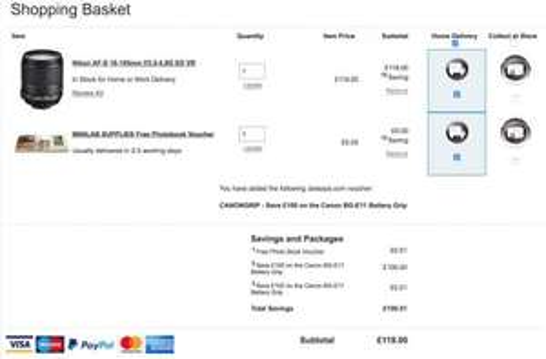 Jessops nikon af-s-18-105mm Lens £119 RRP £219 Save £100