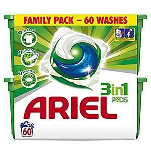 Ariel Bio 3-in-1 Pods Washing Capsules - 3 x 60 Pack (180 Washes) OPENED BOX* £19.49 @ amazon warehouse