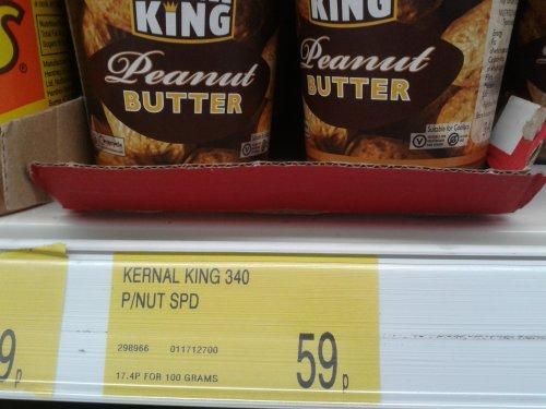 340g Jar of Kernel King Peanut Butter 59p @ B&M
