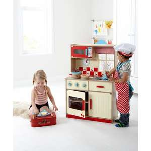 George Home Wooden Deluxe Kitchen was £40 now £30 / Wooden Lights and Sound Train Set was £30 now £22 C+C @ Asda George