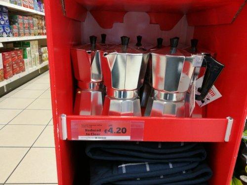 Pezzetti espresso maker 6 cup £4.20 instore @ Sainsbury's (locals)