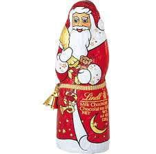 Tesco instore Lindt Milk Chocolate Santa with bell 125g - 10p