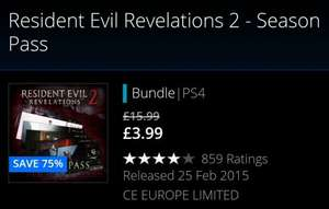 Resident Evil Revelations 2 (PS4) £3.99 @ PSN