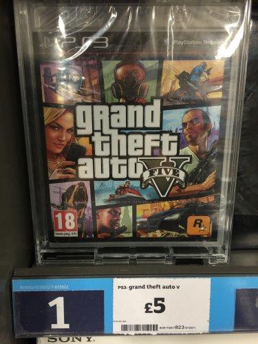 PS3 Grand Theft Auto V - £5 @ Sainsbury's - Lisburn