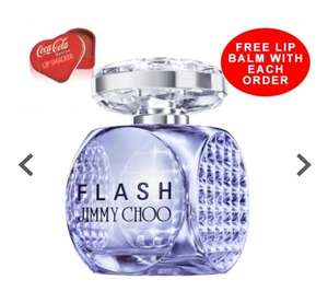 JIMMY CHOO FLASH EAU DE PARFUM 60ML SPRAY @ BeautyBase for only £35 Delivered + free Lip Smacker Coca Cola Lip Balm, free sample and Free Gift Wrap optional
