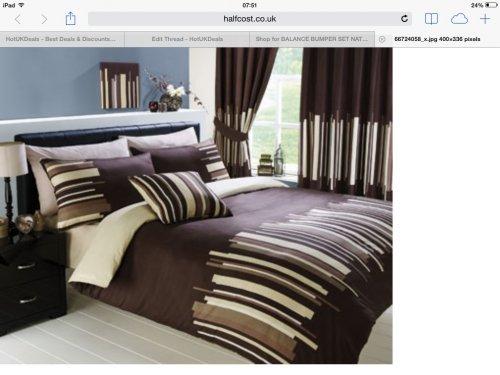 Bumper single bedding set, duvet set, cushion cover plus curtains and tie backs £2.99 plus £3.99 del. @ Halfcost