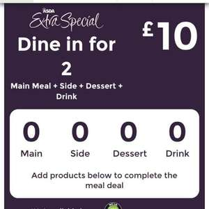 Dine in for 2 @ Asda £10