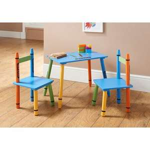 Crayon Table & 2 Chairs £19.99 instore @ B&M