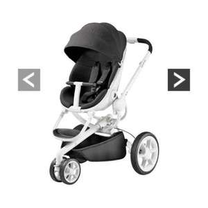 quinny moodd pushchair (black irony white frame )